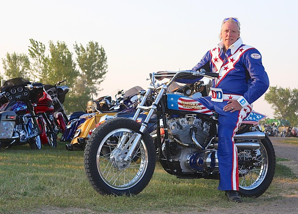 Famous Evel Knievel Bike At Auction: Danger Attempts Evel Stunt