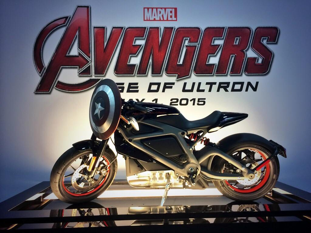 Electric Harley in Avengers movie - Motorbike Writer