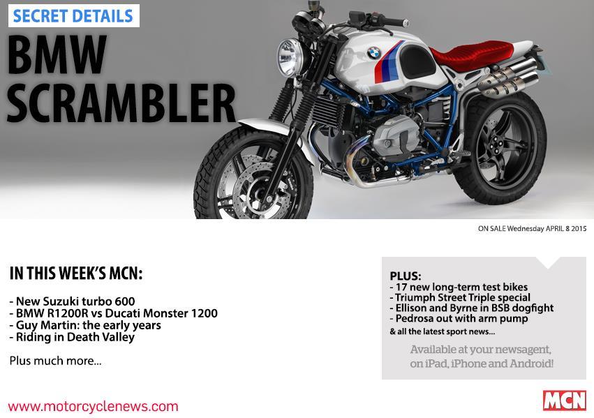 New MCN April 8: BMW Scrambler secret details