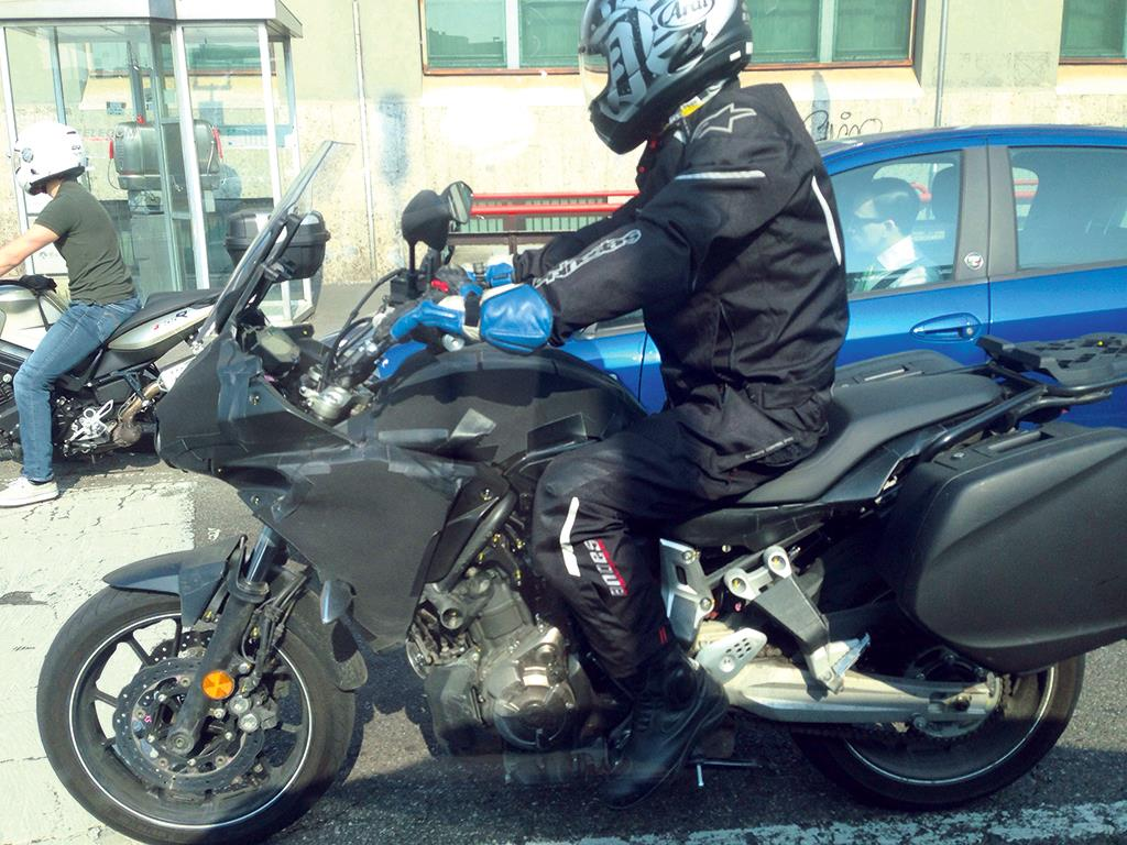 new yamaha mt-07 tracer spied testing | mcn