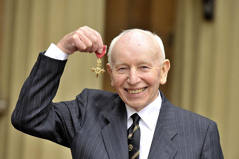 Surtees pictured with his OBE in 2009