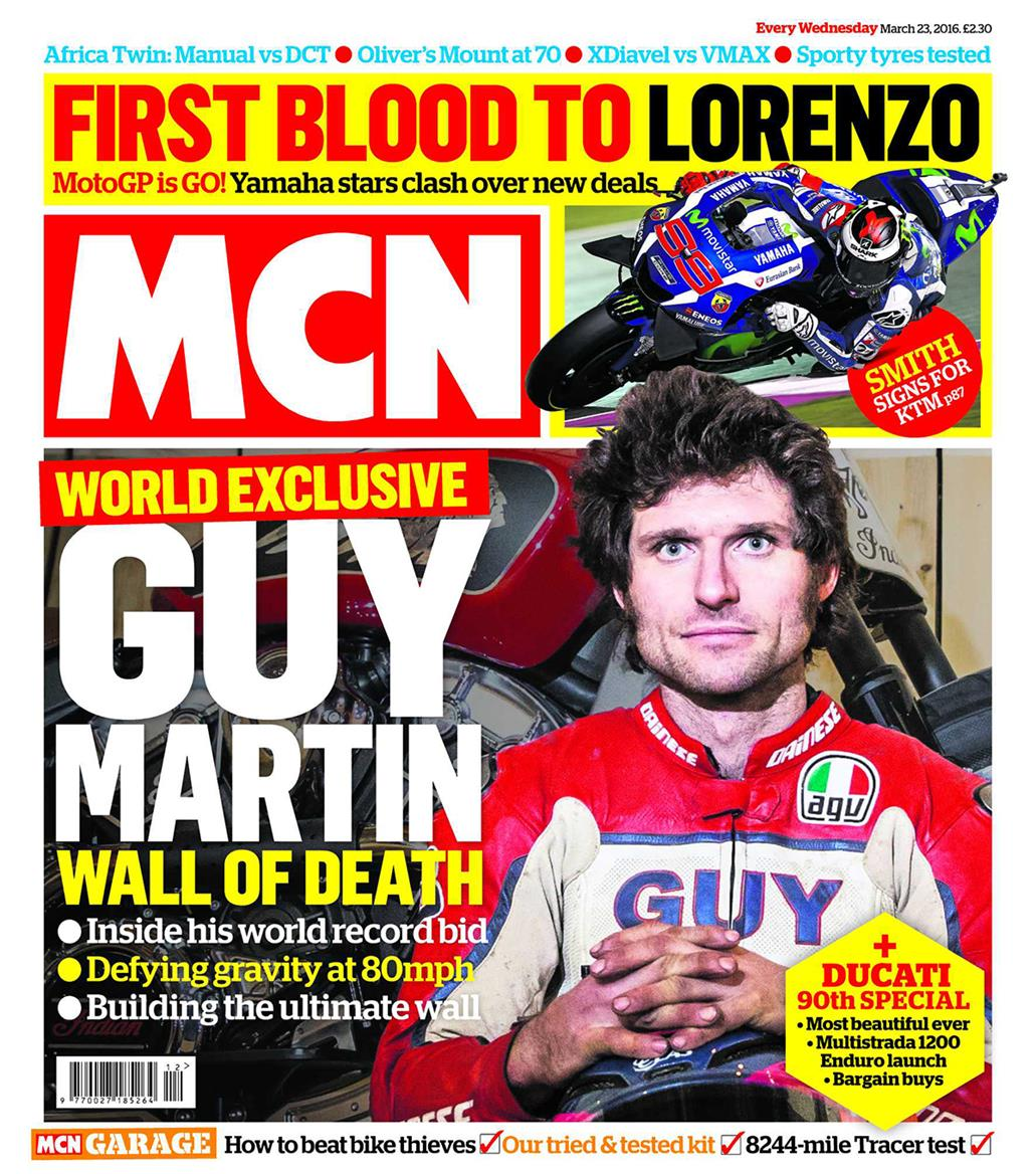 New MCN March 23: Guy Martin's Wall Of Death