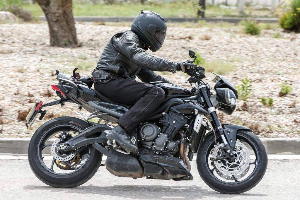 triumph street triple 765 finally spied mcn. Black Bedroom Furniture Sets. Home Design Ideas