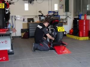Mechanics fix the XDiavel