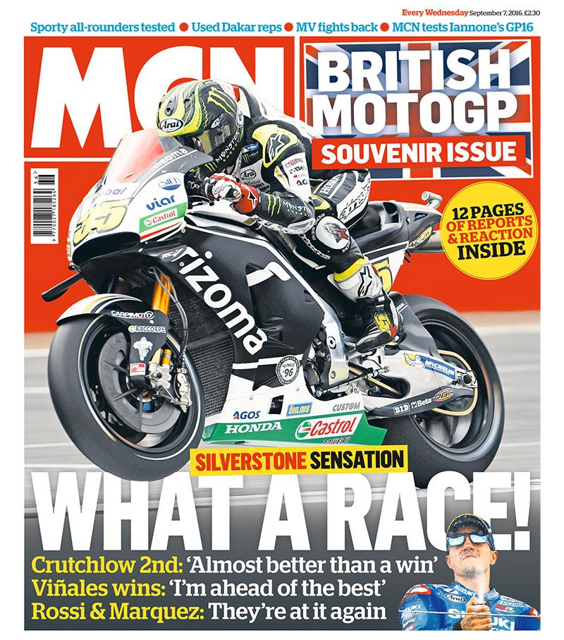 this week s issue silverstone sensation british motogp souvenir issue mcn. Black Bedroom Furniture Sets. Home Design Ideas