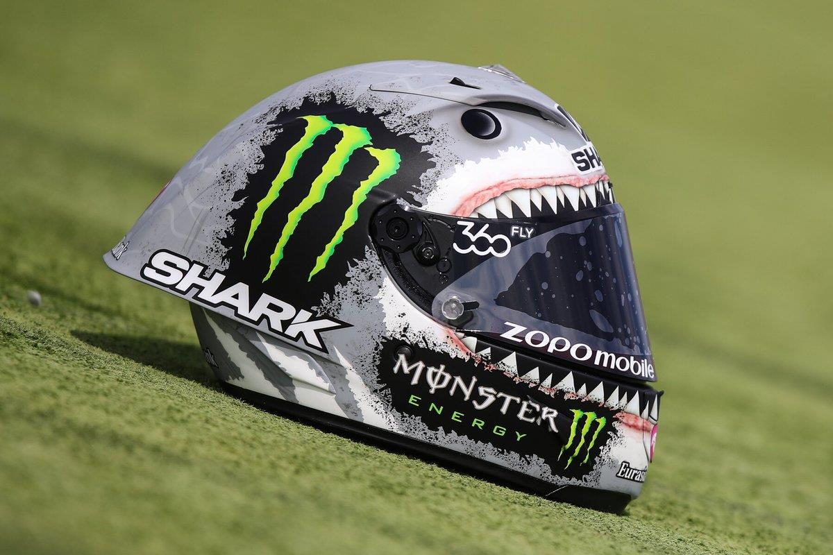 MotoGP: Lorenzo takes on Rossi with shark-themed helmet? | MCN
