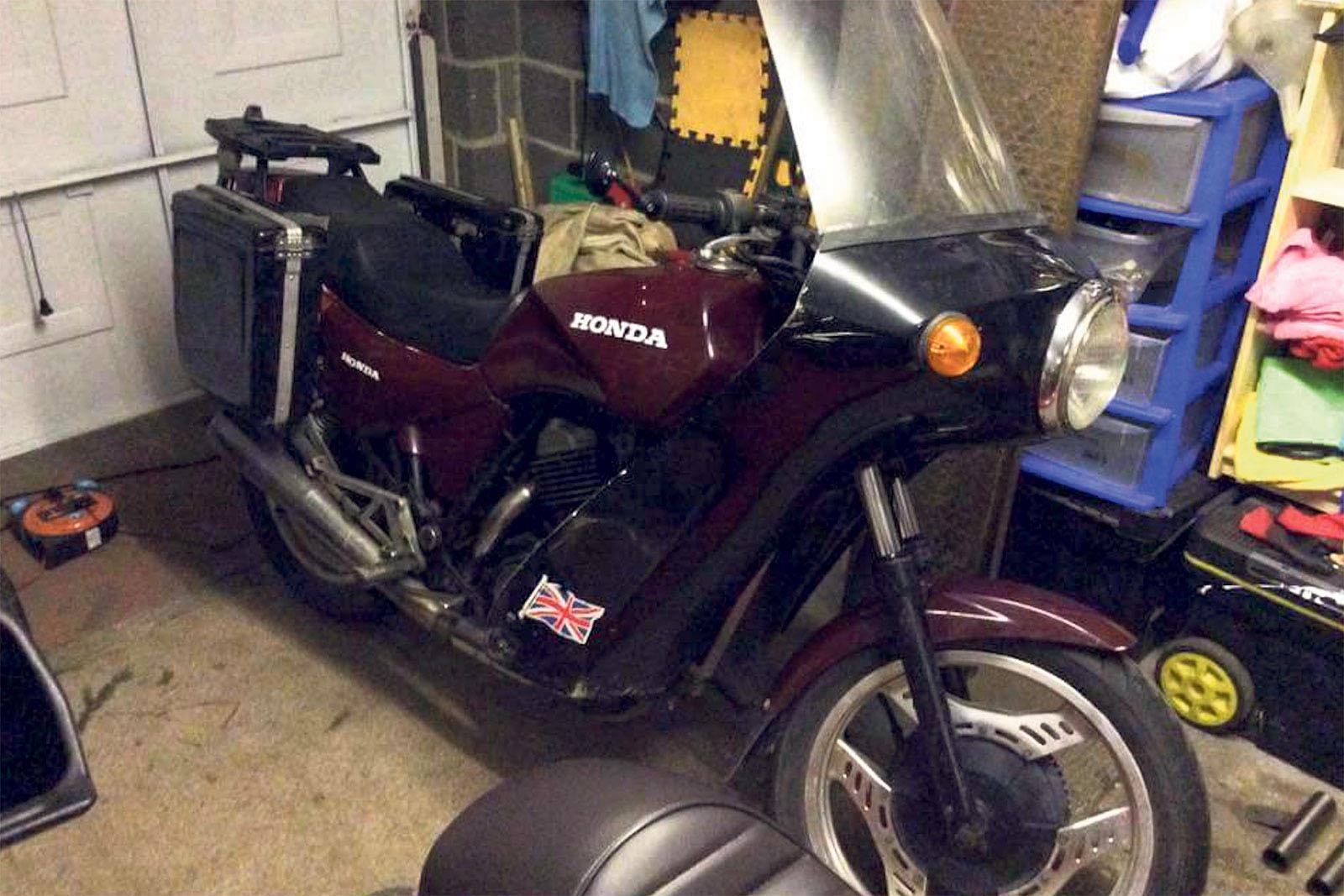 Shed Built 1983 Honda Vt500 Mcn Shadow Vt500c Parts The Builds Very Humble Origins