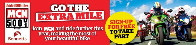 Sign-up to MCN's #ride5000miles campaign