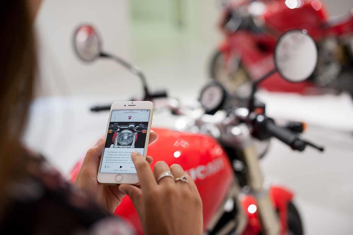 Use the new Ducati app to maximise your museum experience