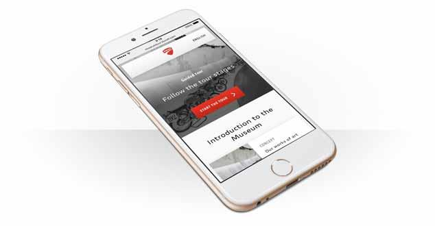 Try out Ducati's new multimedia guide on your next visit to their museum