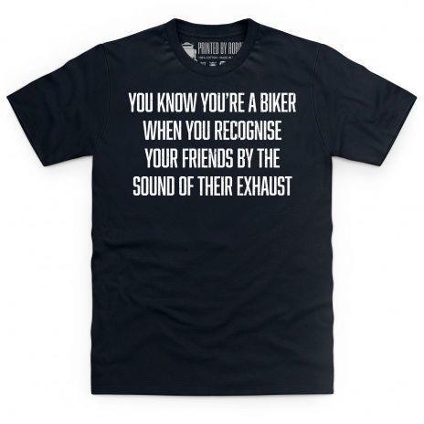 Exhaust identification t-shirt