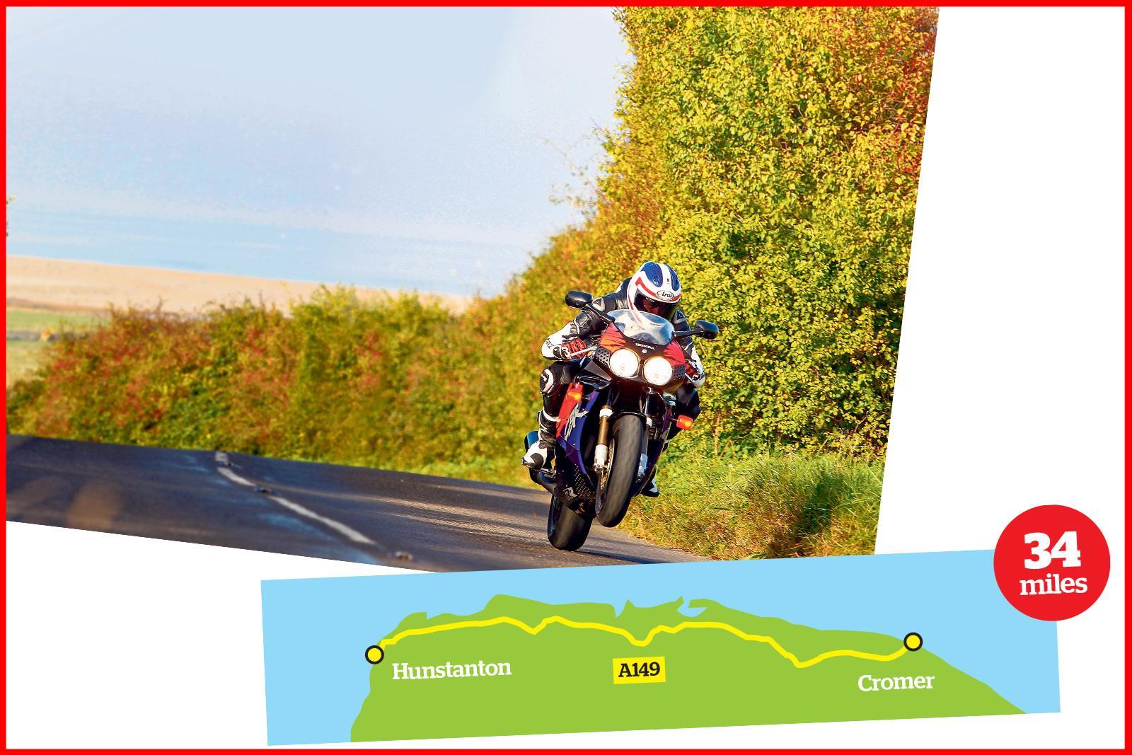 Hunstanton to Cromer A419 ride