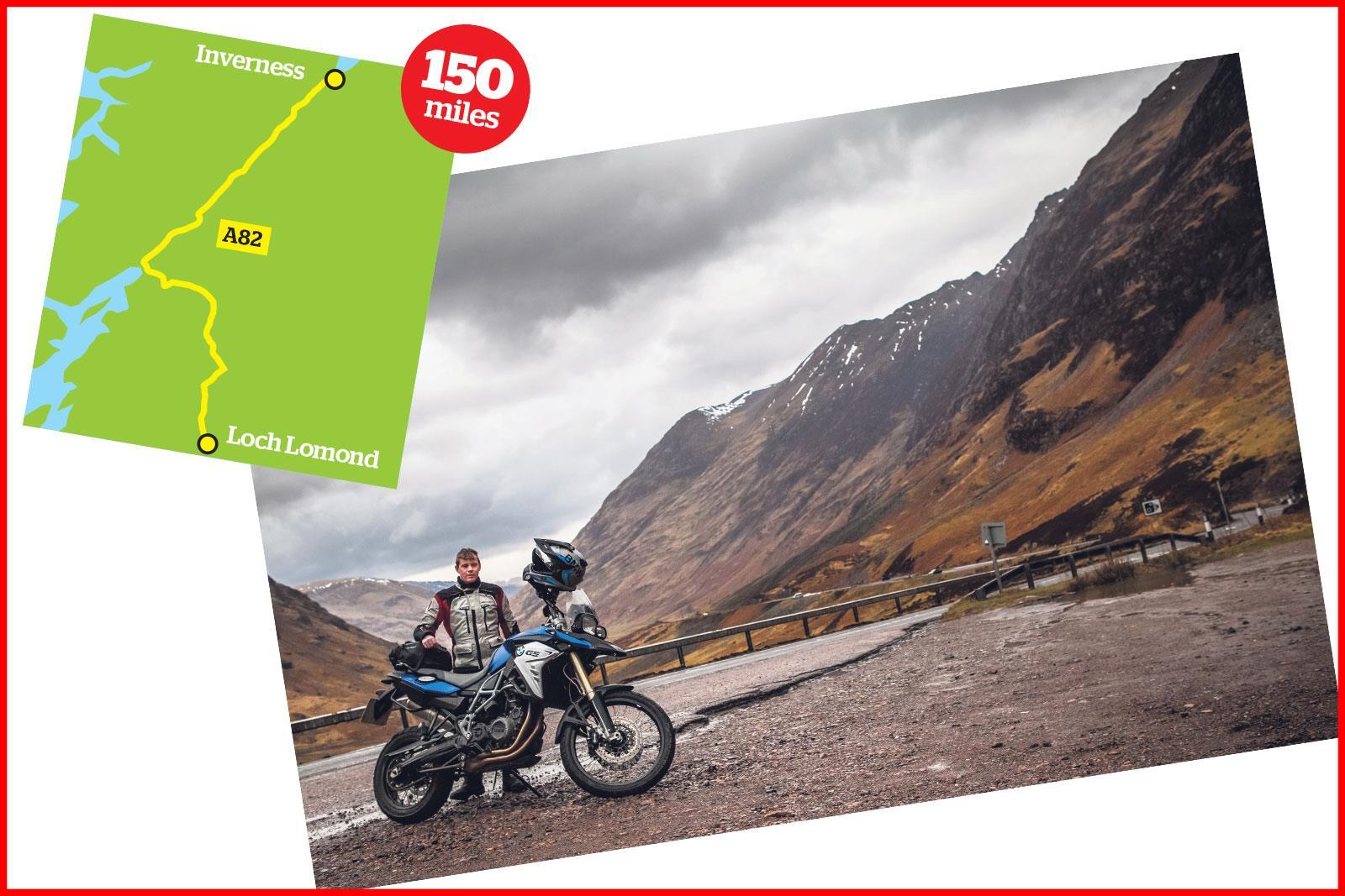 Loch Lomond to Inverness A82 ride in Scotland