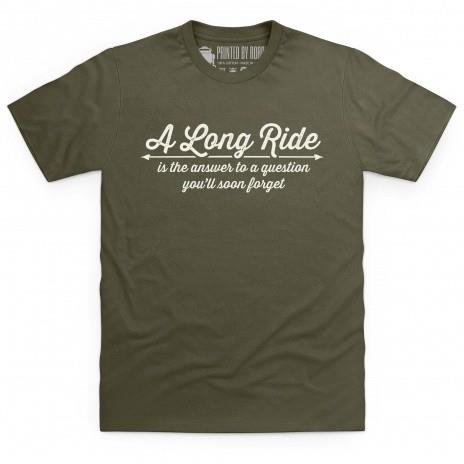 A long ride motorcycle t-shirt