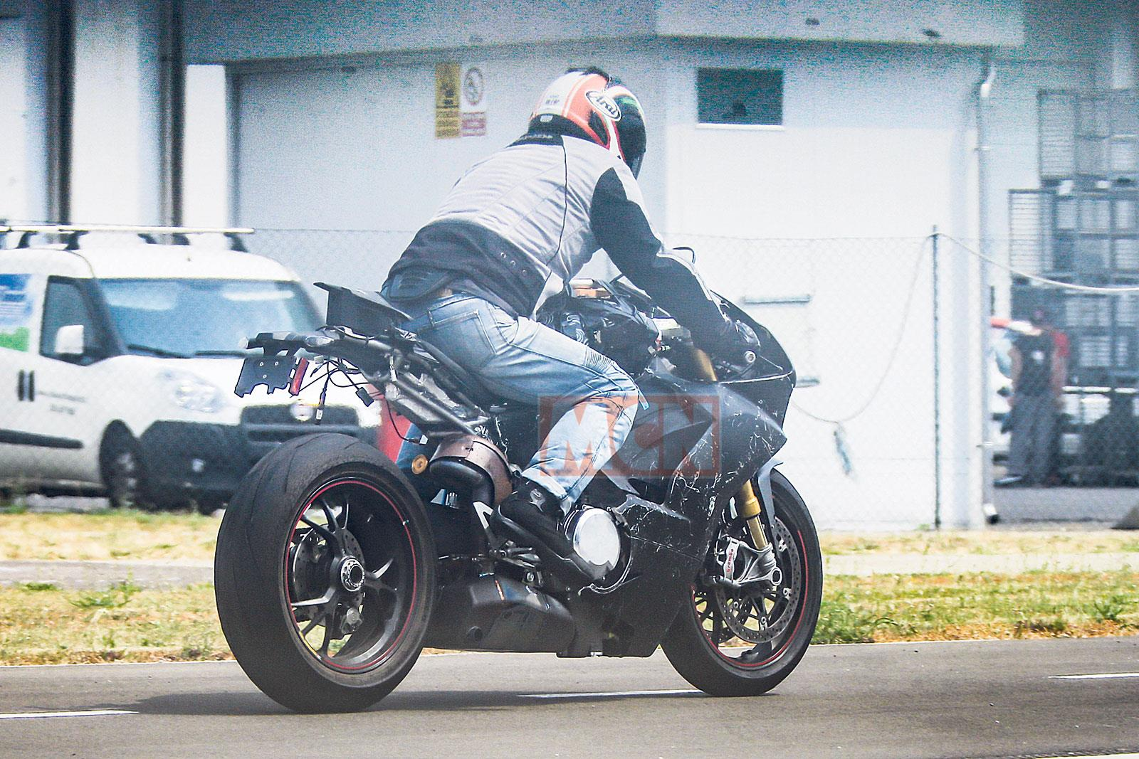 Ducati V4 motorcycle spy shot