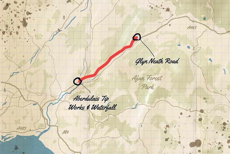 Sarn Helen South trail map