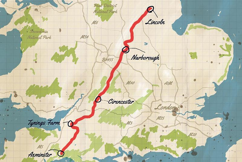 The Fosse Way trail map