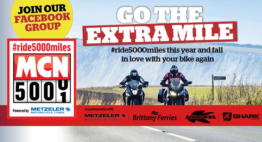 Sign-up to MCN's #ride5000miles