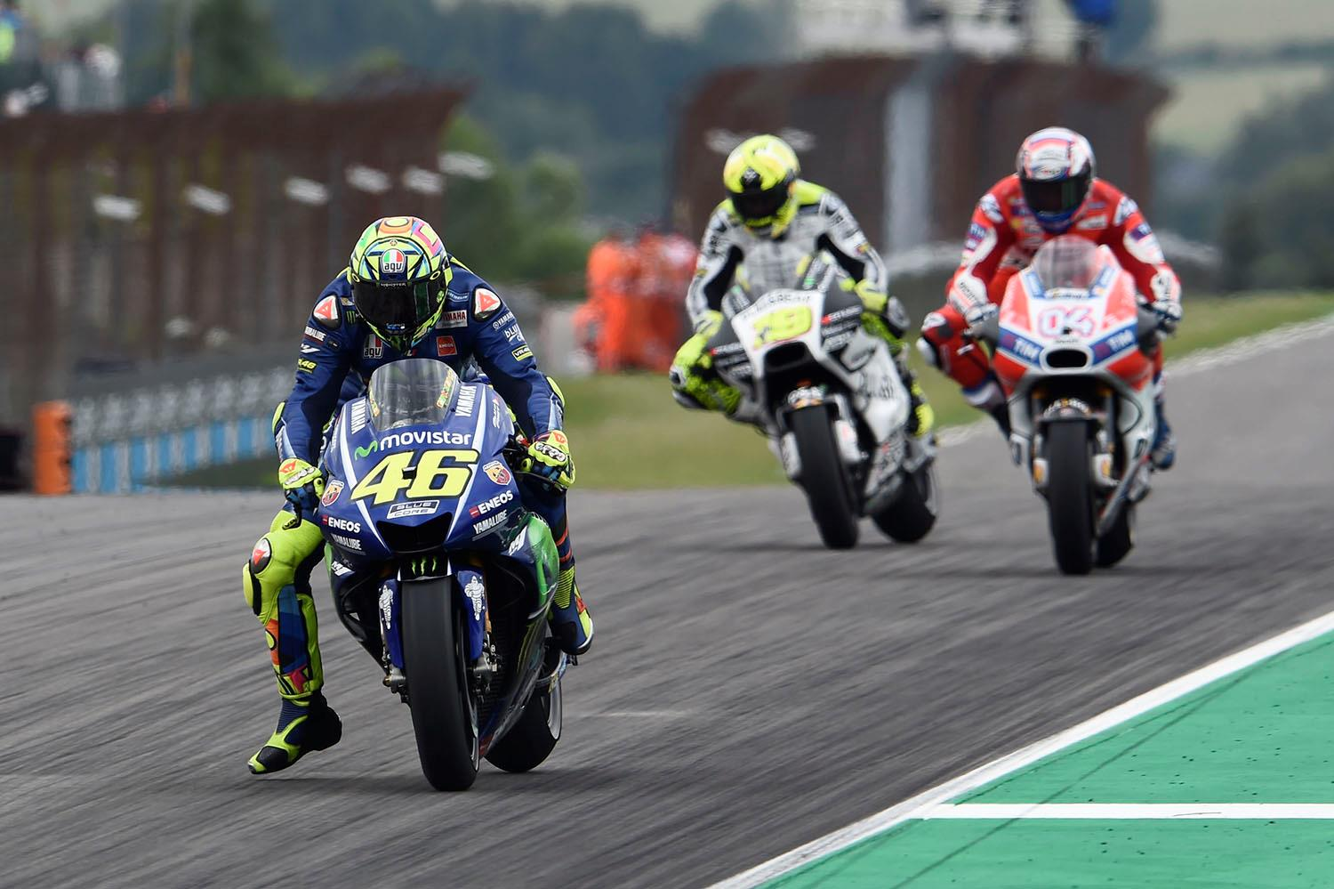 MotoGP Brno: Marquez heads Rossi to take pole