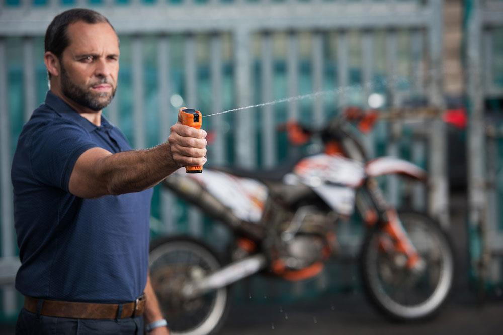 Police are using a DNA spray to identify reckless riders