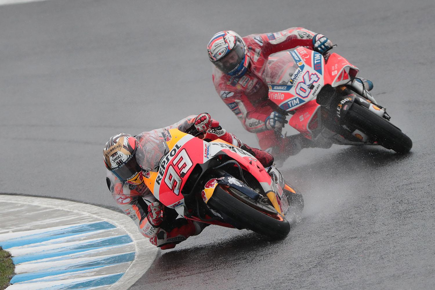 Dovizioso sets Sepang pace come rain or shine