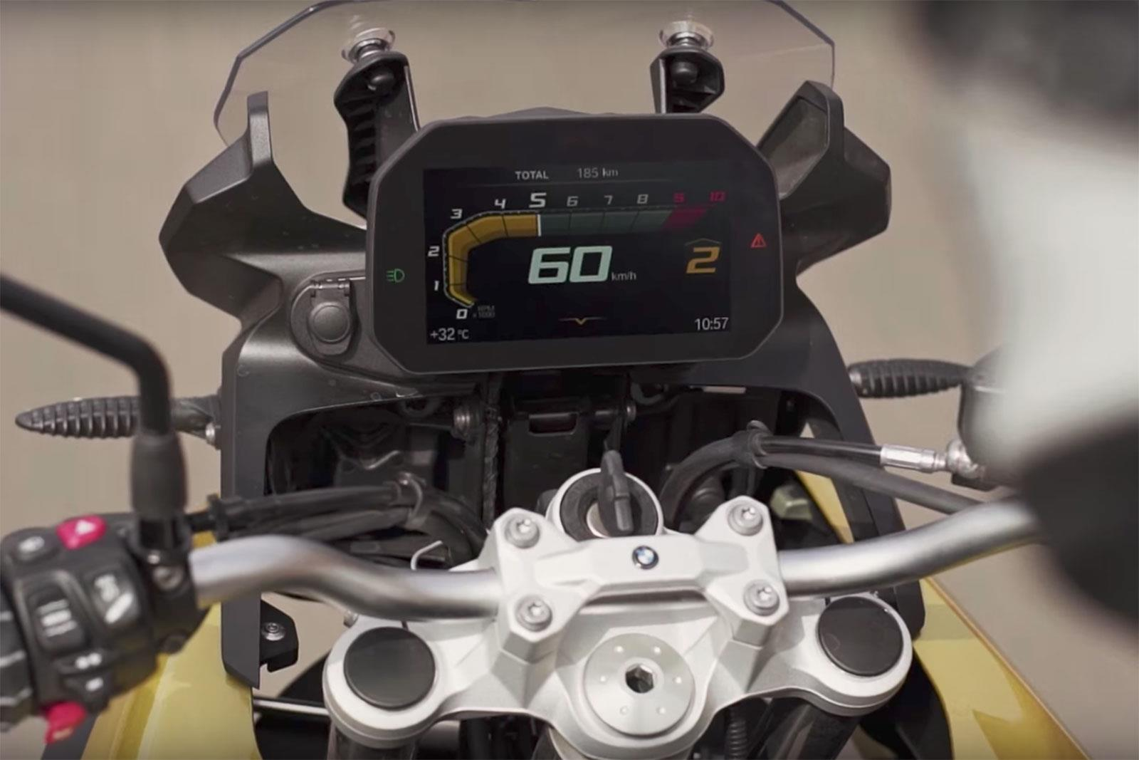 BMW F850GS TFT dash