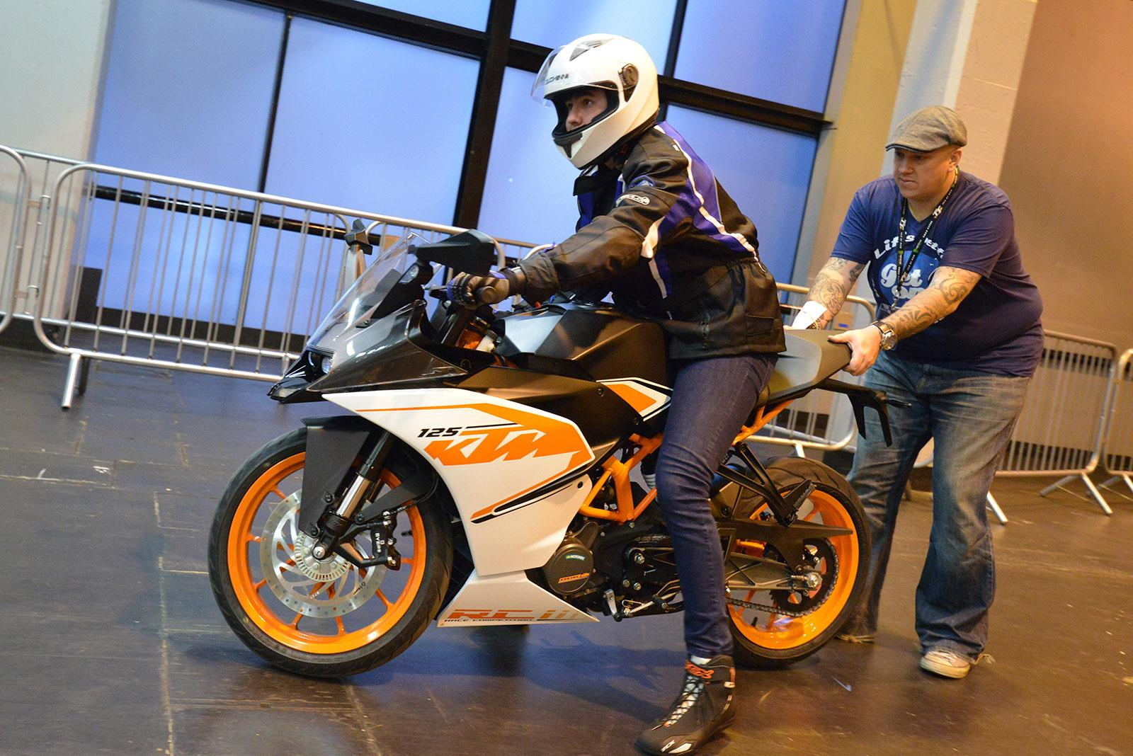 Two-wheel taster with Get On
