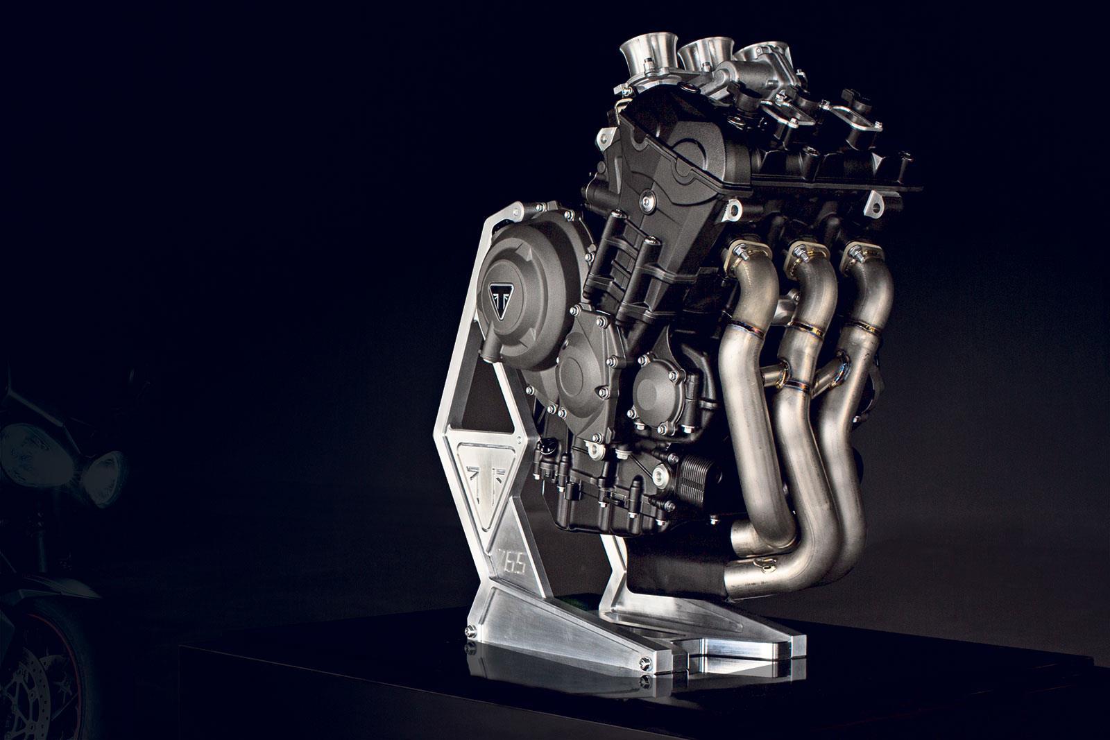 Triumph 765 Moto2 engine
