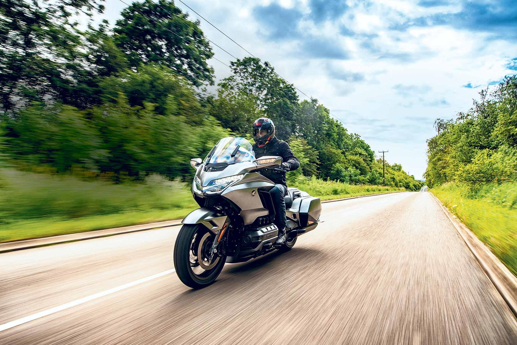 Riding the standard Honda Gold Wing