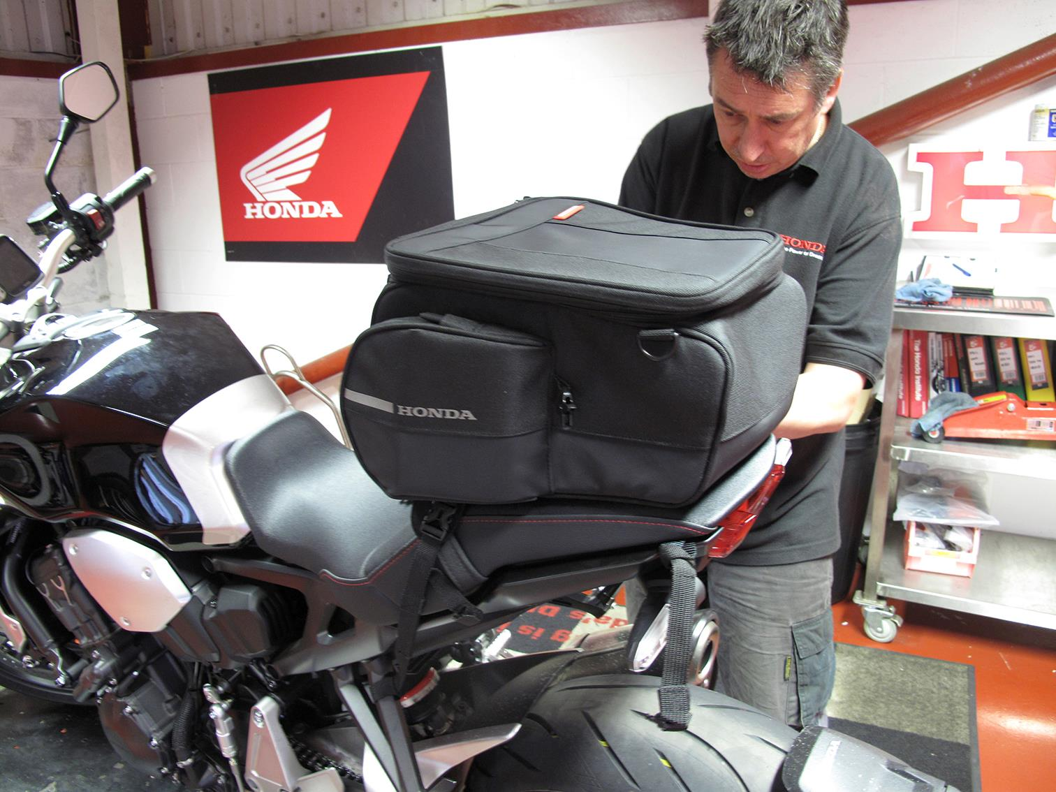 Honda's CB1000R+ tail pack is expandable