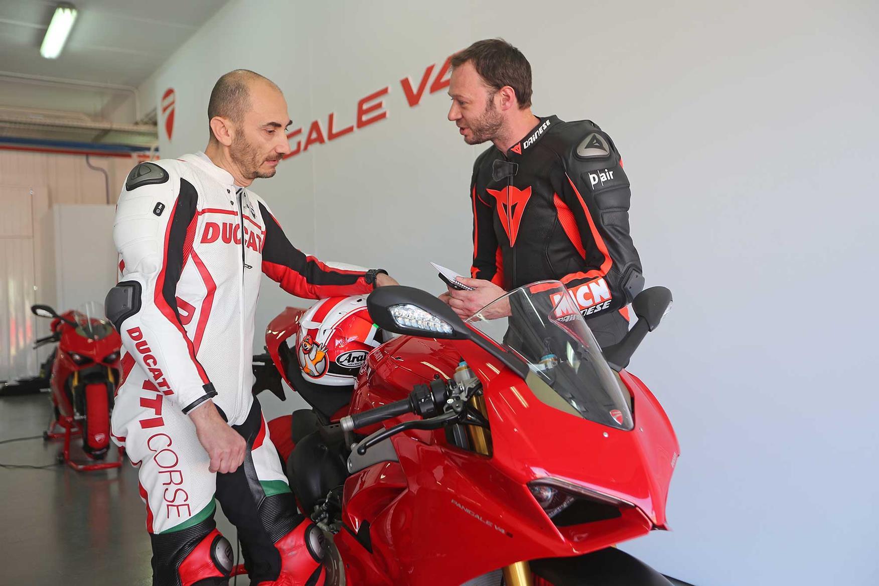 MCN discuss the V4 S with Ducati's CEO Claudio Domenicali