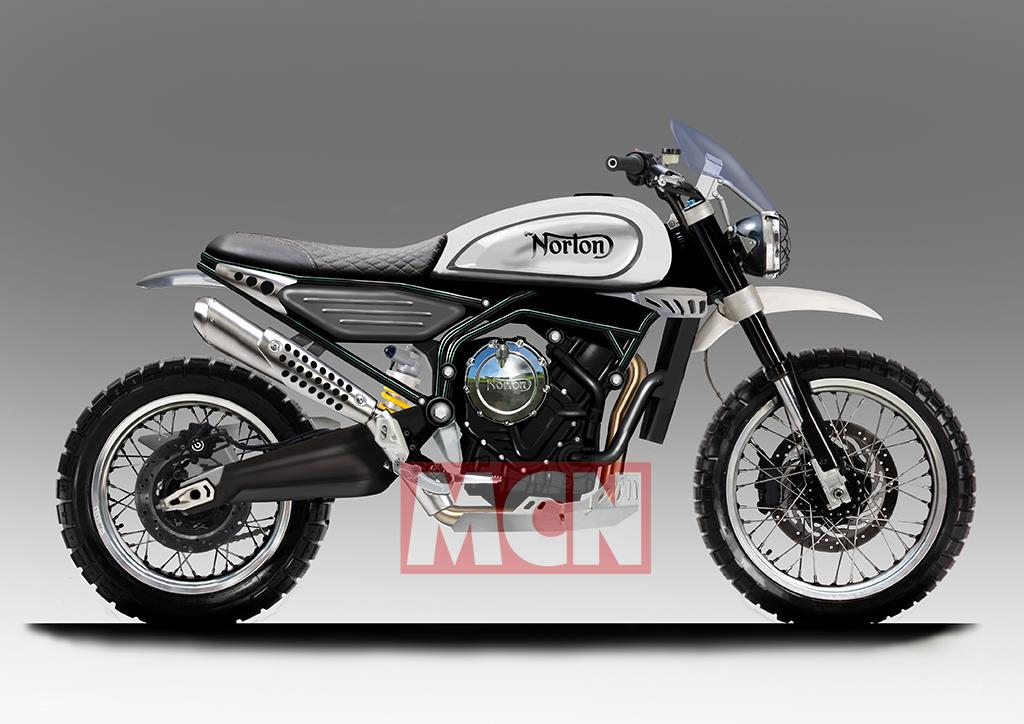 First Norton 650 Scrambler CAD images