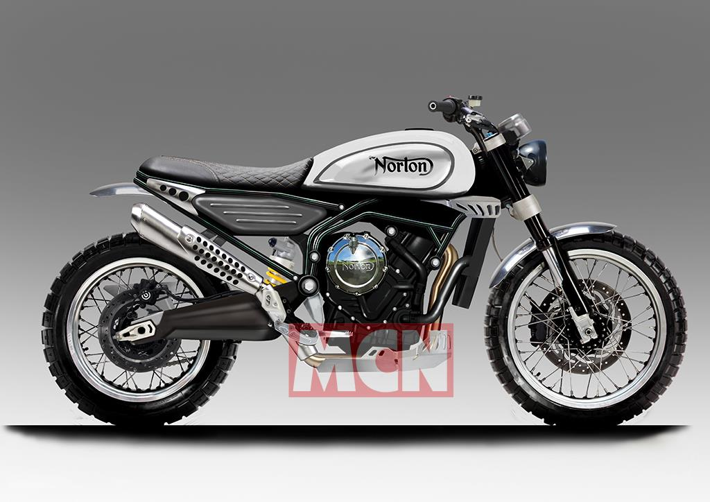 Early Norton 650 Scrambler design