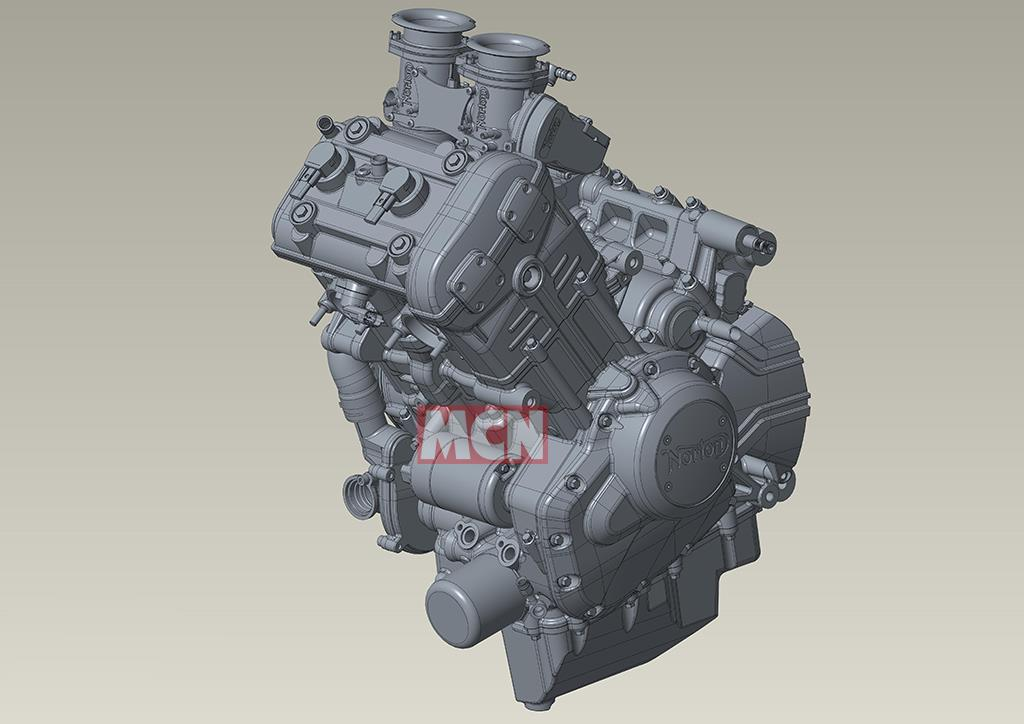 Norton 650 engine CAD drawing