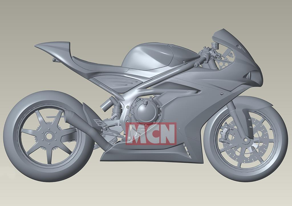 Norton 650 supersport CAD drawing