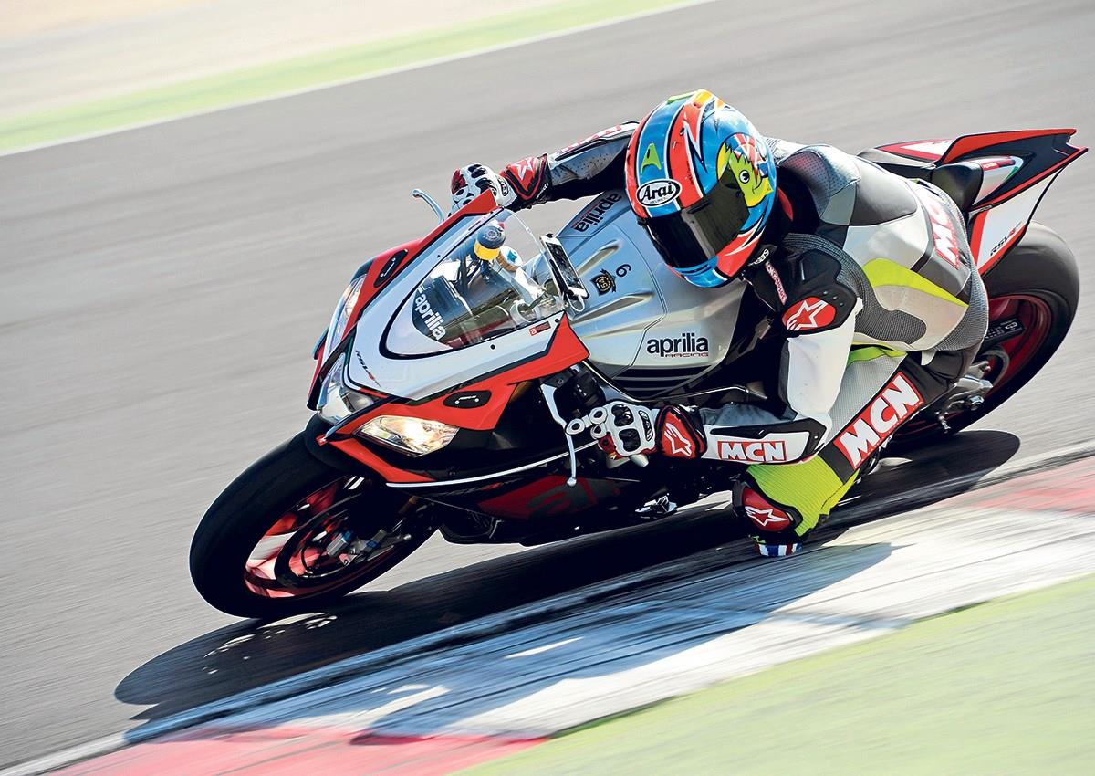 The Aprilia combines gorgeous looks with sublime performance