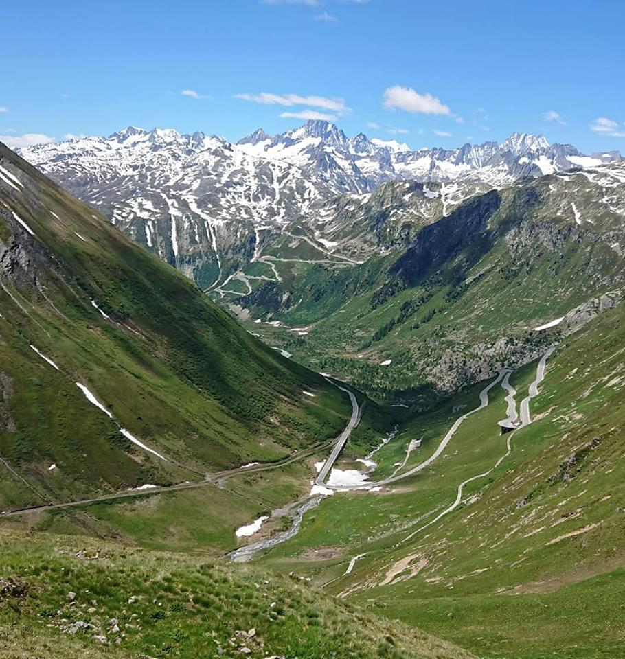 Grimsel pass from the top of Furka pass