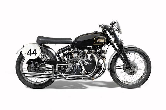The 1949 Vincent Black Lightning, number two produced