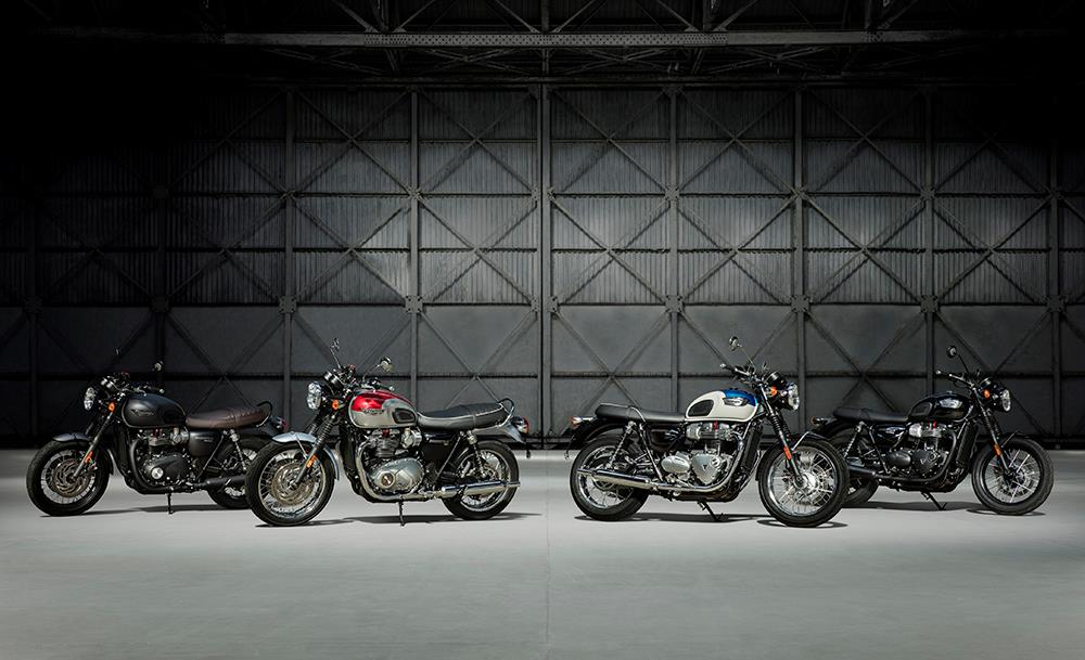 The current Bonneville T100 and T120 models
