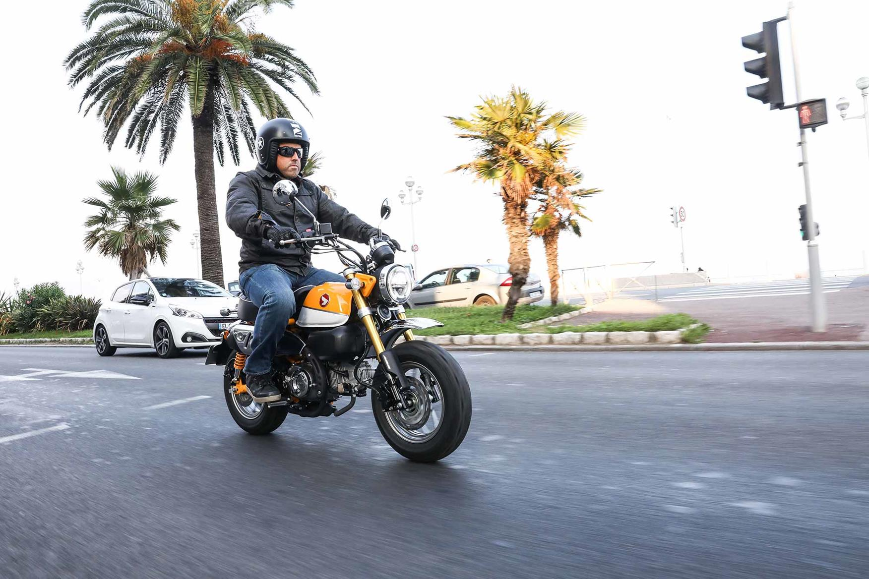 MCN's Child rides the new Monkey in Nice
