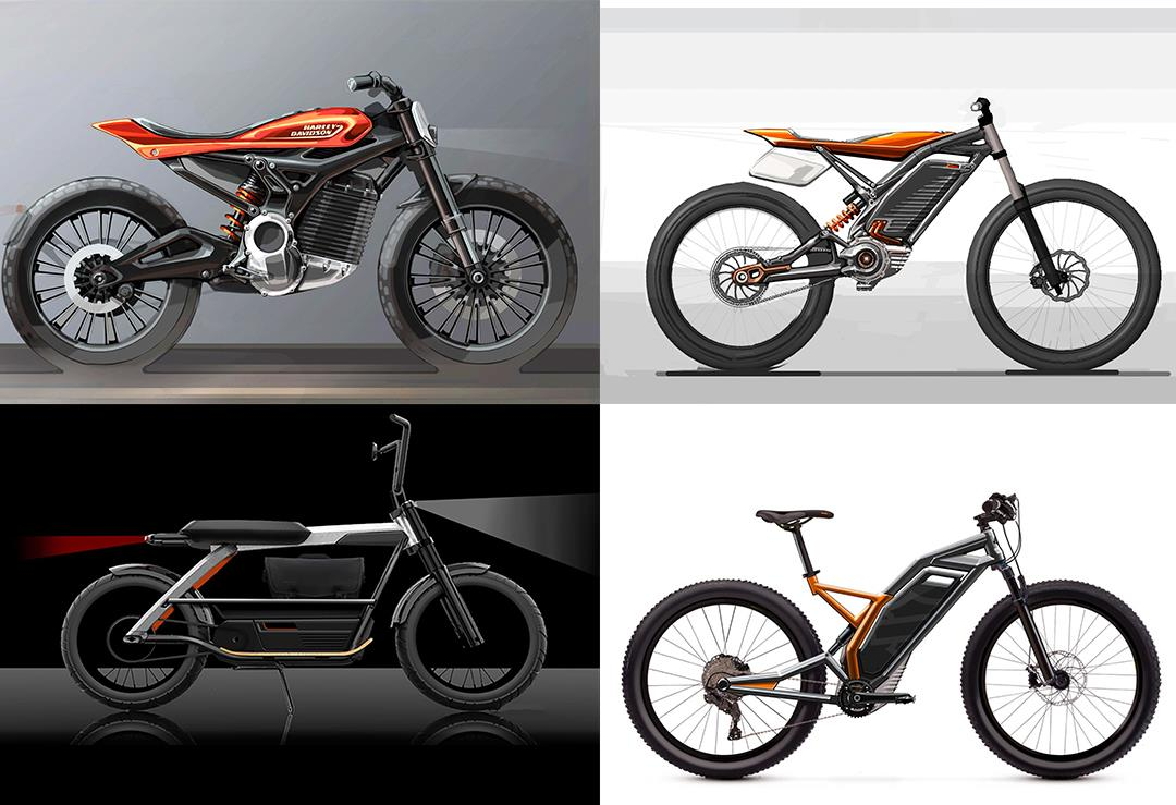 The Harley-Davidson electric bike range