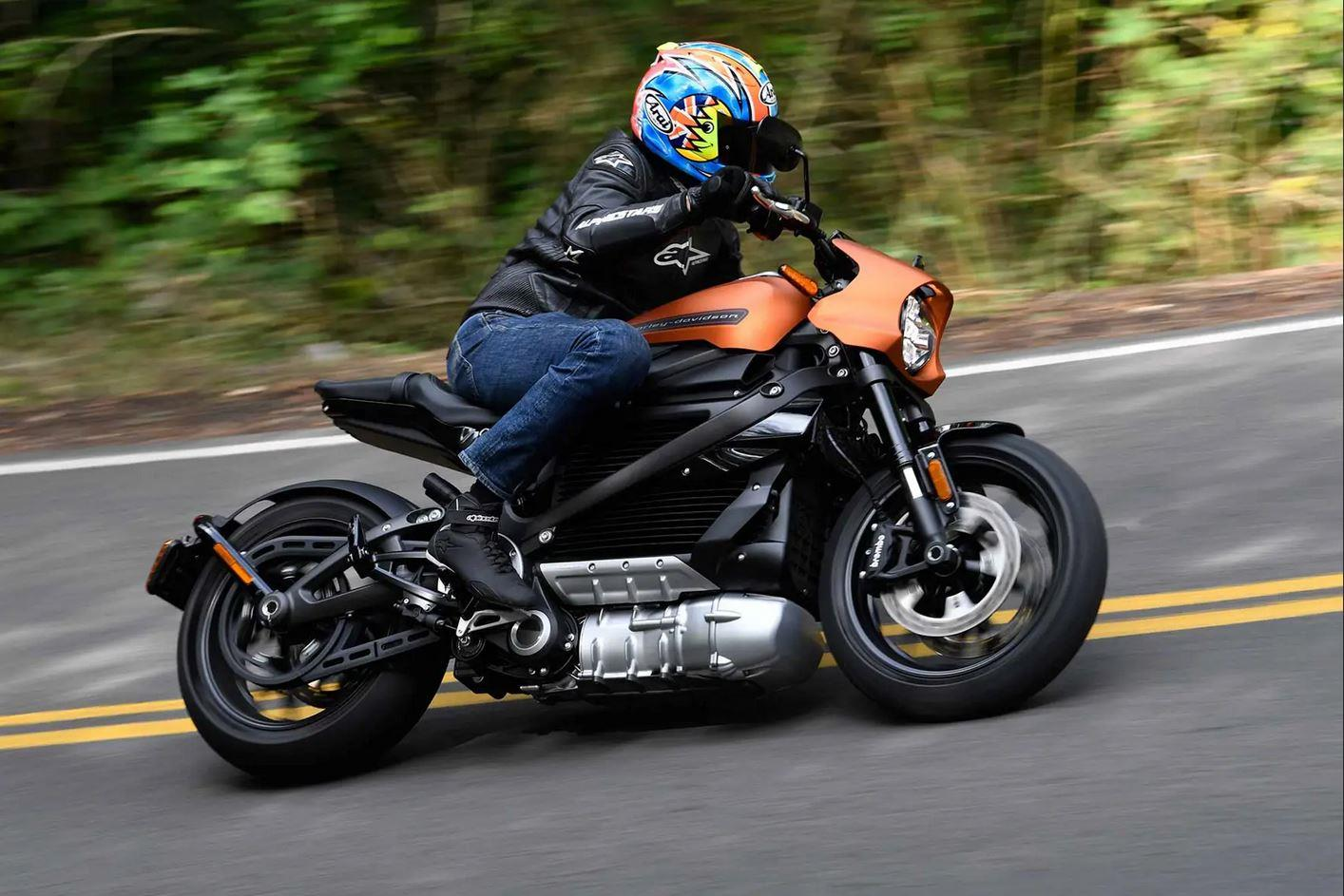 Michael Neeves riding the Harley-Davidson Livewire