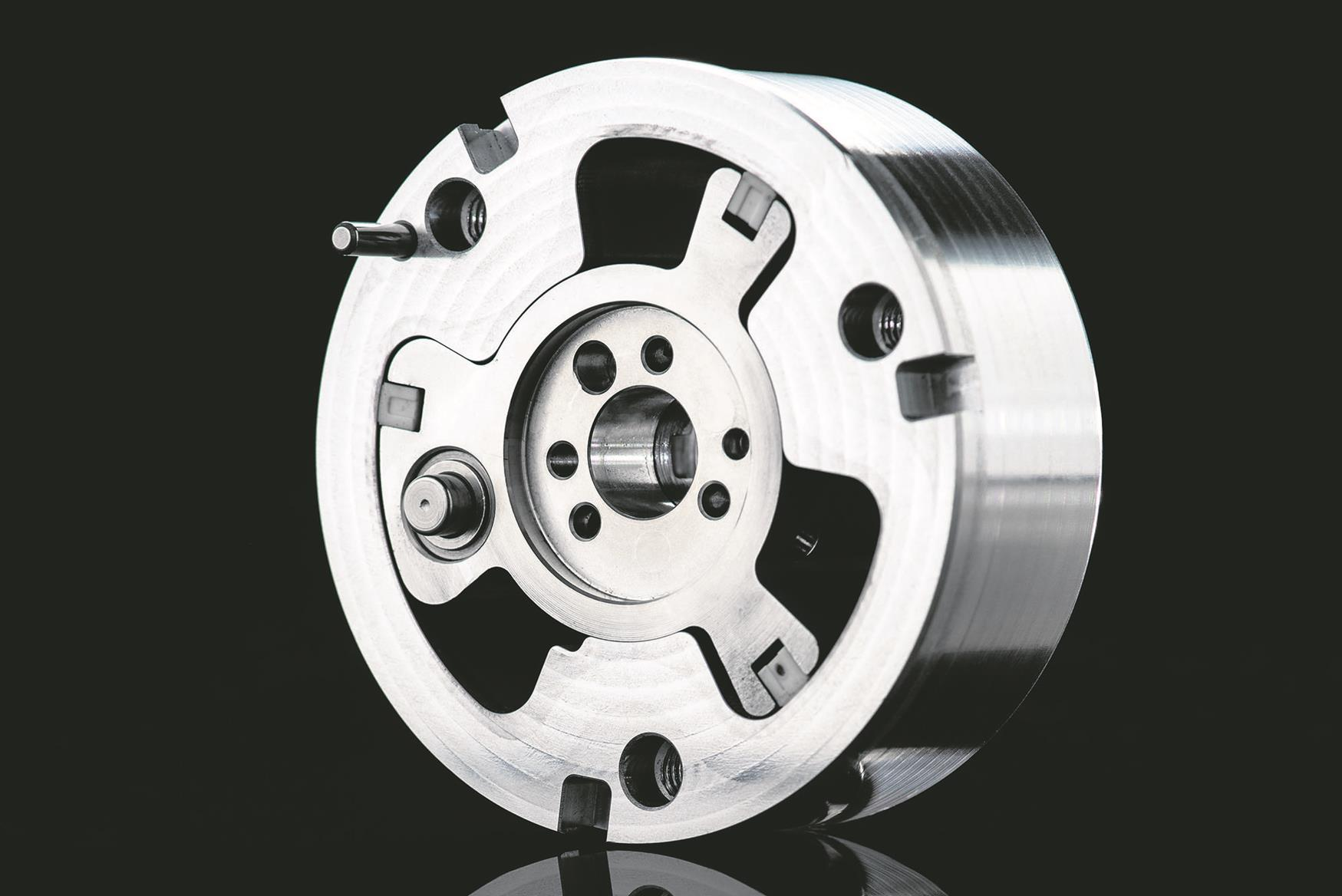 The internal mechanism of the cambelt pulley can alter valve overlap by between 0 and 50 degrees