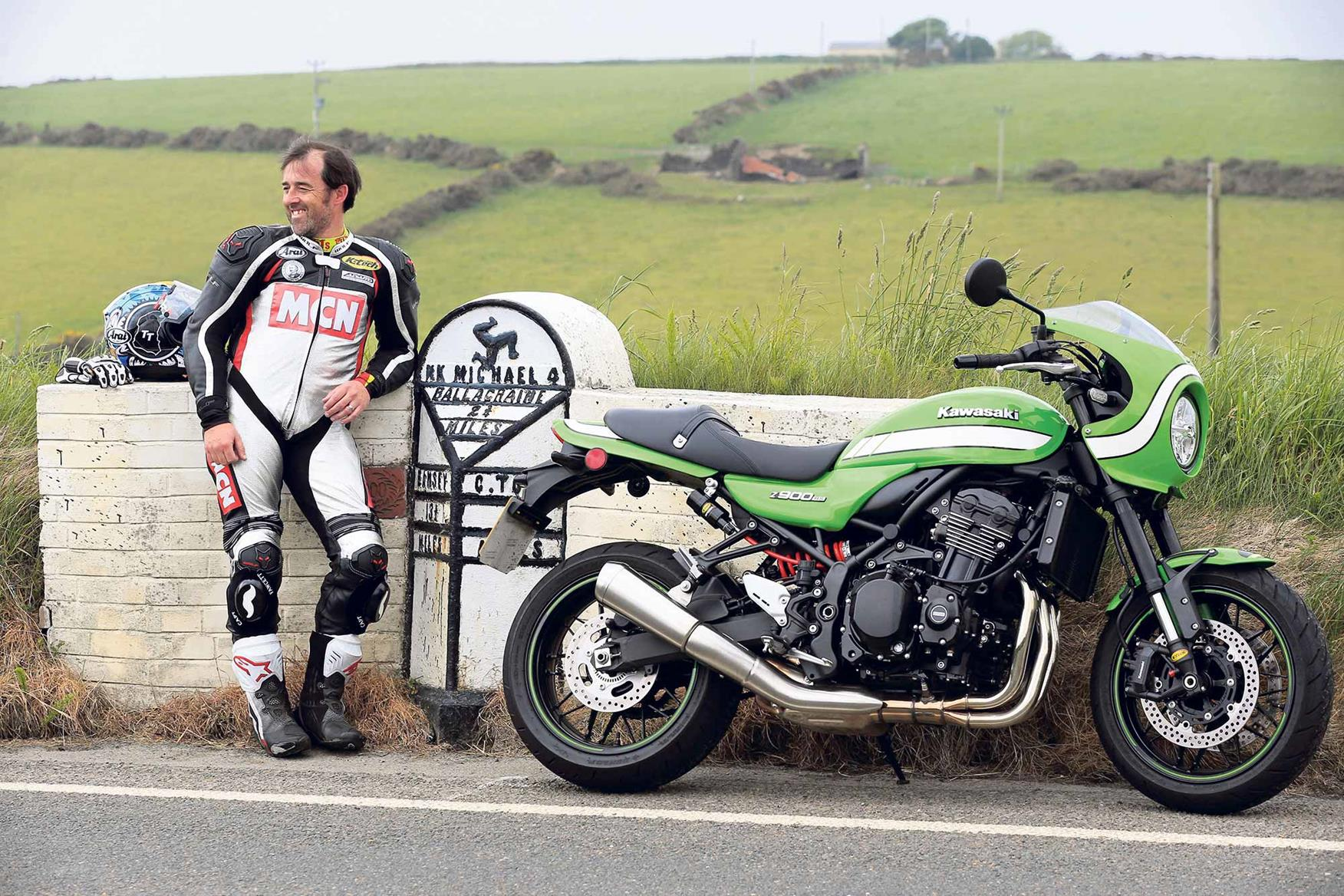 Adam Child admires the Kawasaki Z900RS Cafe