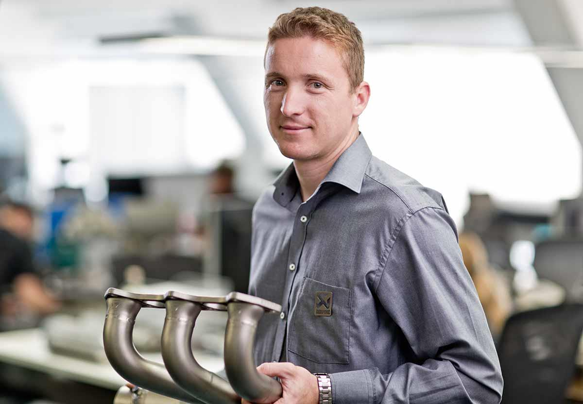 Akrapovic's chief technical officer Jaka Klemenc