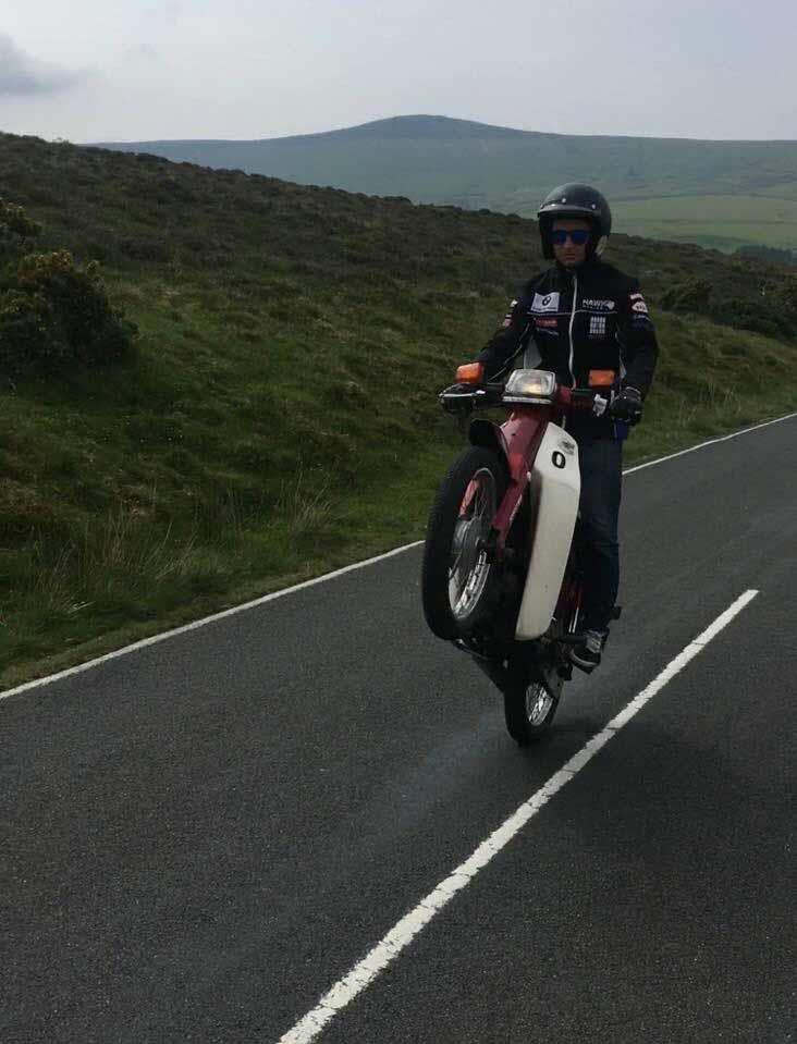 Richard Cooper rides 365 days a year