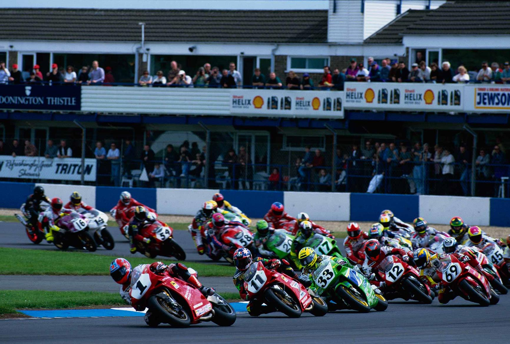 World Superbikes at Donington Park in 1995