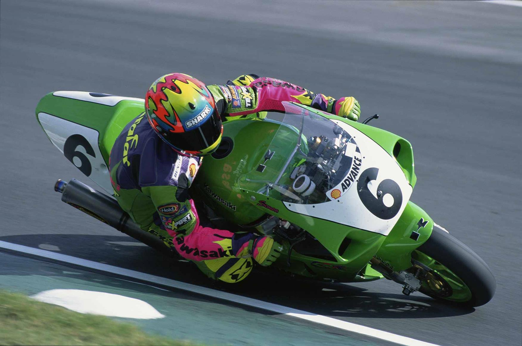 Simon Crafar at Brands Hatch World Superbikes in 1997