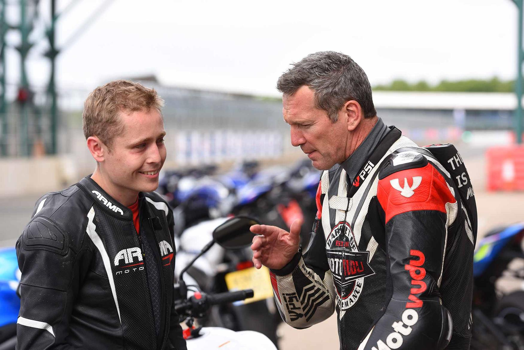 Simon Crafar talks with MCN's Dan Sutherland at Silverstone