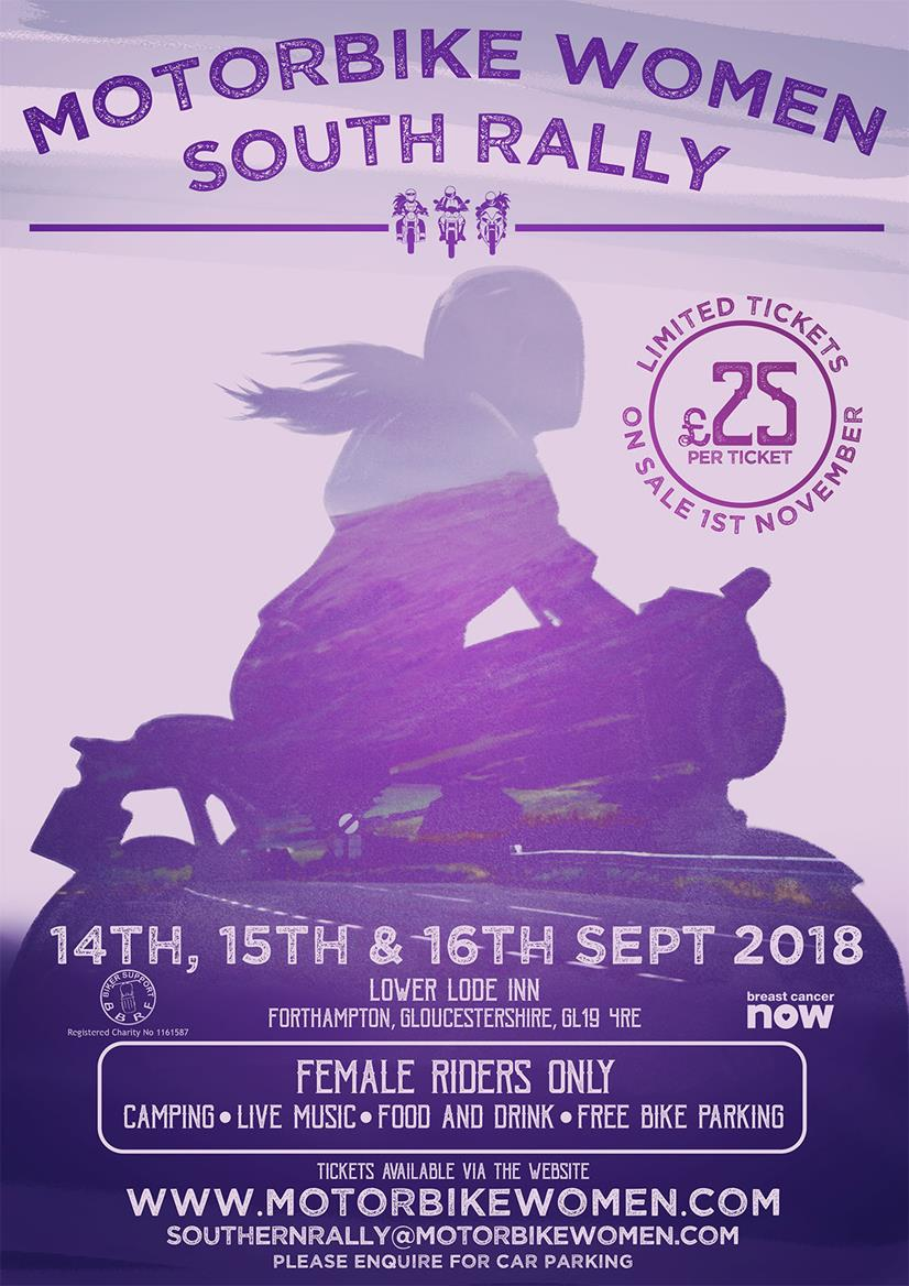 The first Motorbike Women South Rally will take place in September 2018
